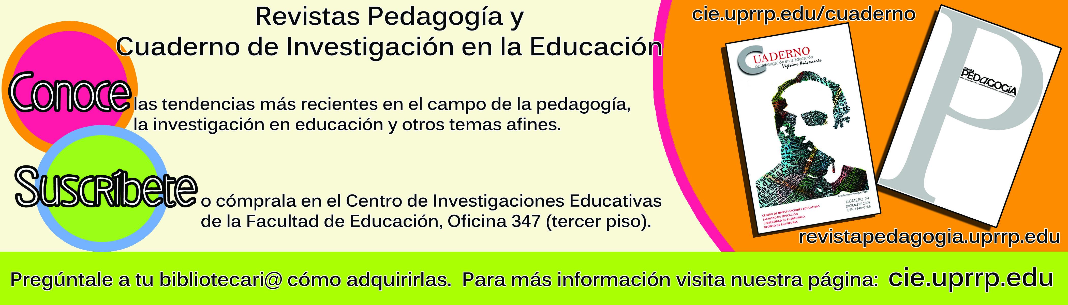 Promoción de Cuaderno y  Pedagogía
