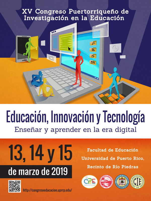 Cartel 15to. Congreso Puertorriqueño de Investigación en la Educación