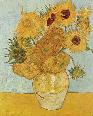Vincent van Gogh Jarrón de doce girasoles, 1888