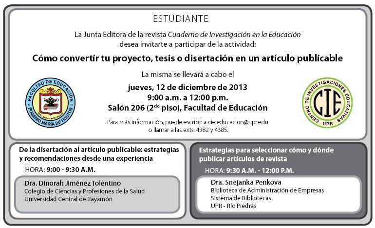 Actividad Revistas diciembre 2013