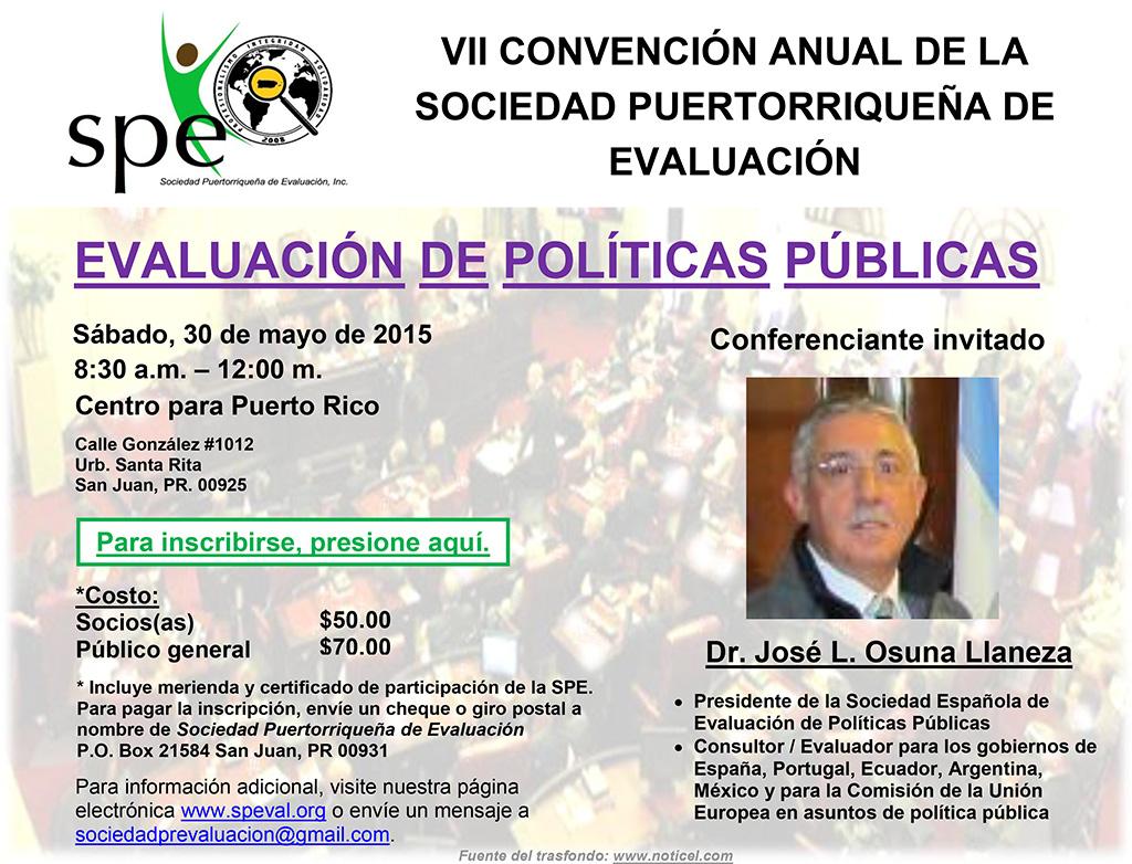 VII Convención Anual de la Sociedad Puertorriqueña de Evaluación