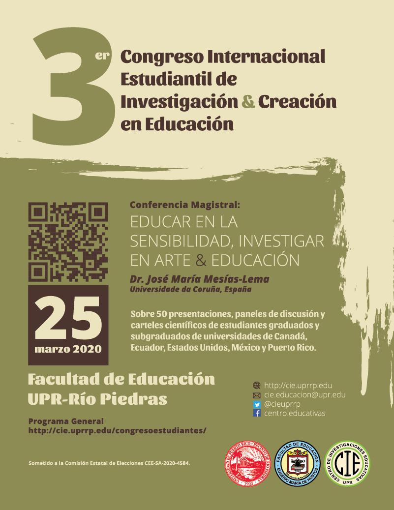 Tercer Congreso Internacional Estudiantil de Investigación y Creación en Educación